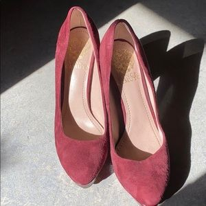 Vince Camuto Burgundy Platform Heels